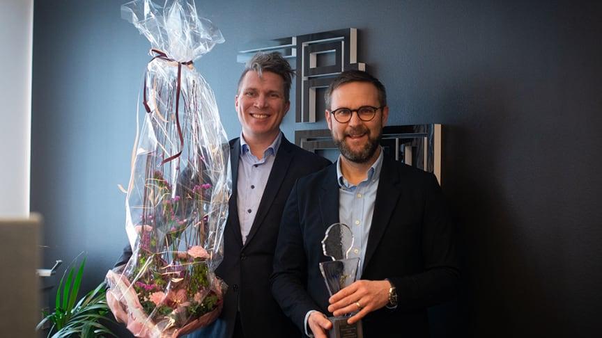 Anders Hallberg och Tobias Mård, Tromb - Årets Företagare 2020.  Foto: Zandra Klasson