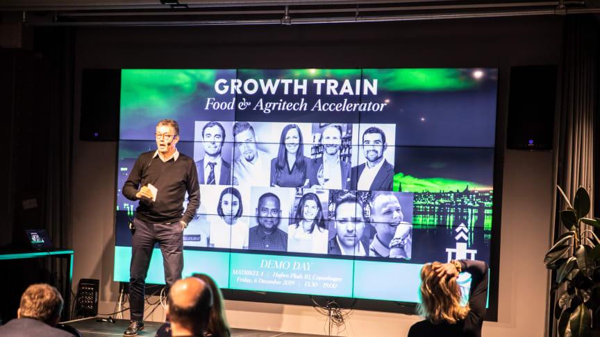 Sticks'N Sushi stifter og formand for Business LF Kim Rahbek Hansen ved sidste års 'Growth Train - Fast Track' afslutningsevent.