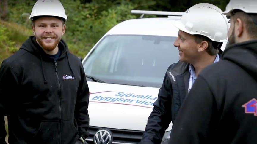 Med AddMobiles passagelösningar slipper Sjövalla Byggservice AB nyckelhantering och får tryggare arbetsplatser. Foto: Sjövalla Byggservice AB.
