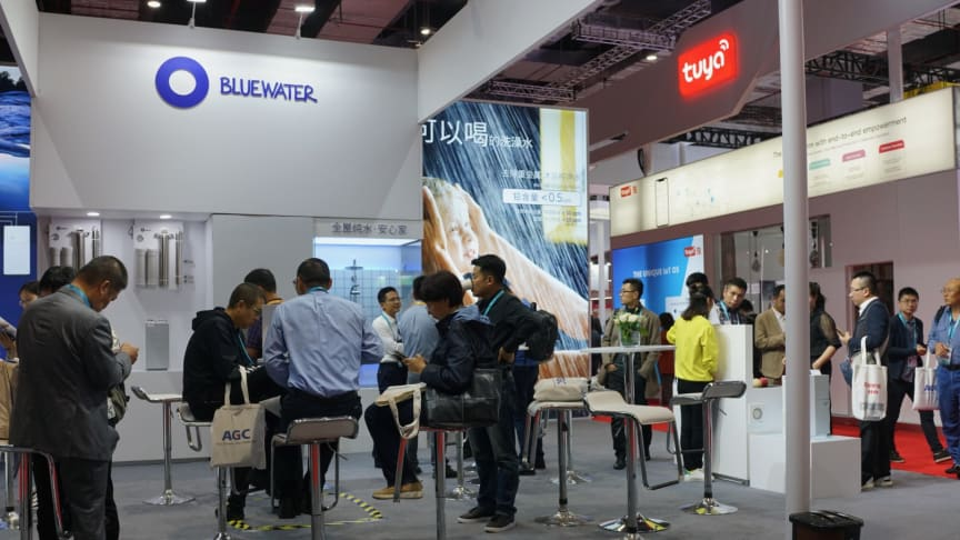 Bluewater Booth at CIIE Shanghai