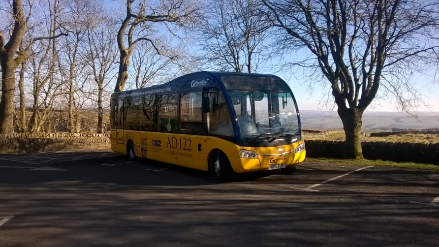 The AD122 routes is popular with tourists visiting Hadrian's Wall
