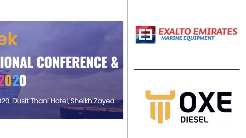 OXE Diesel displayed at ShipTek by Exalto Emirates, 7 - 8 April
