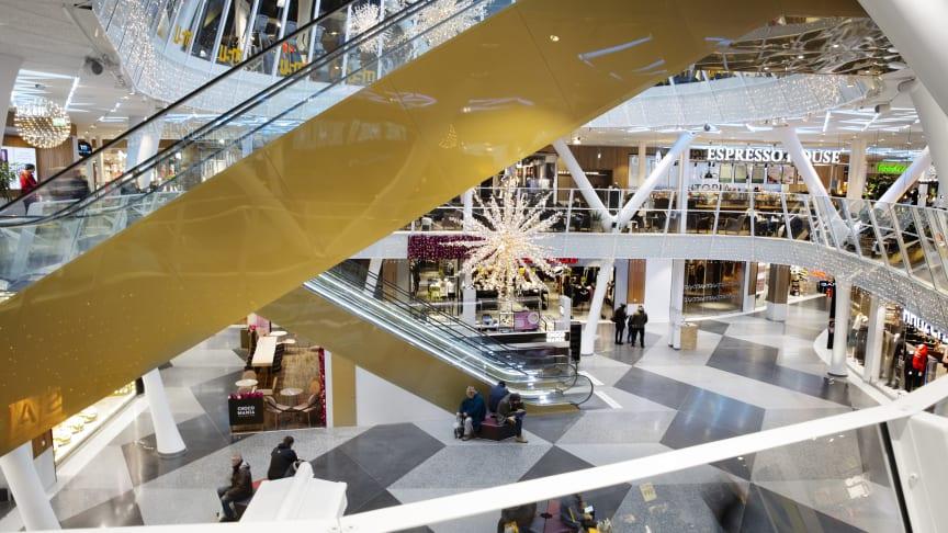 Utopia, gallerian mitt i Umeå centrum. Fotograf: Malin Grönborg