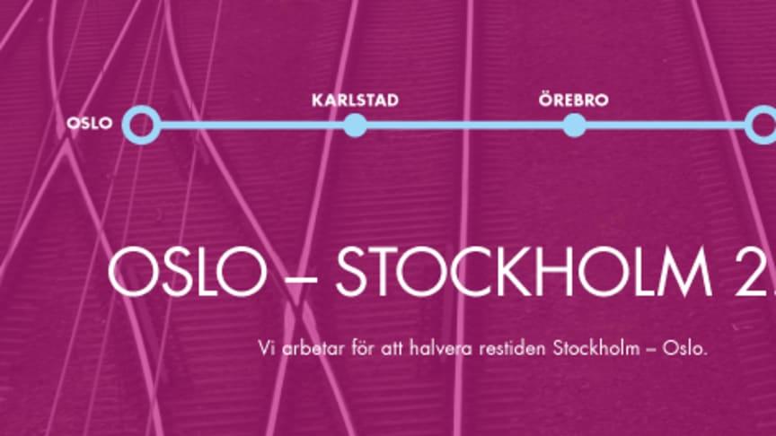Avsiktsförklaring om snabbare järnvägsförbindelse  Oslo - Karlstad - Örebro - Stockholm