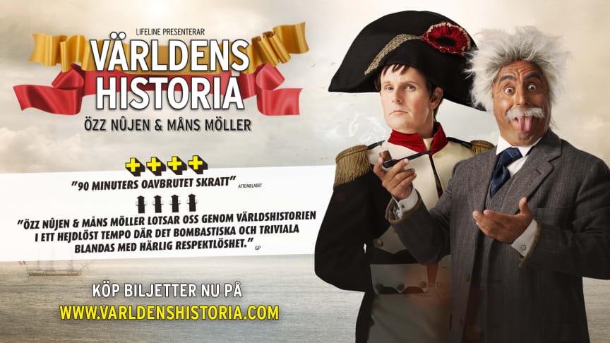 Föreställningen Världens Historia går in i unik fjärde säsong!