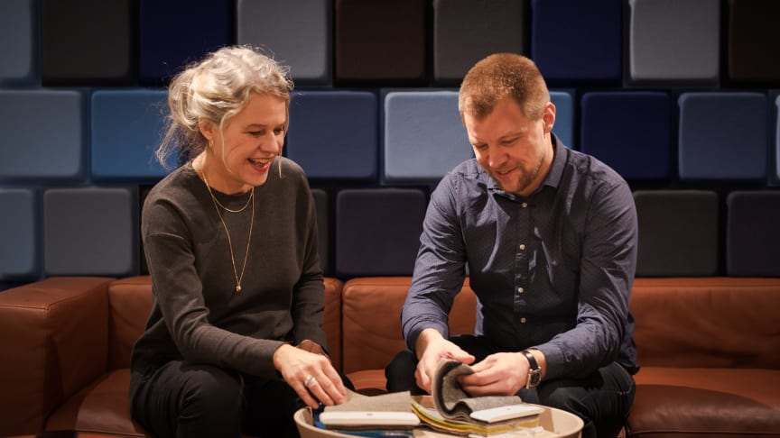 Maria Olofsson Karemyr, Brand Manager och Tobias Strålman, Design Lead.