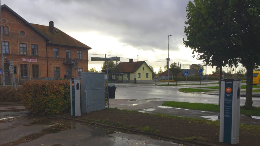 CLEVERs nya laddstationer i Klippan