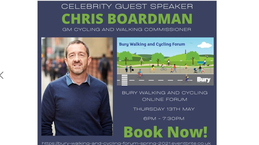 Chris Boardman special guest at cycling forum