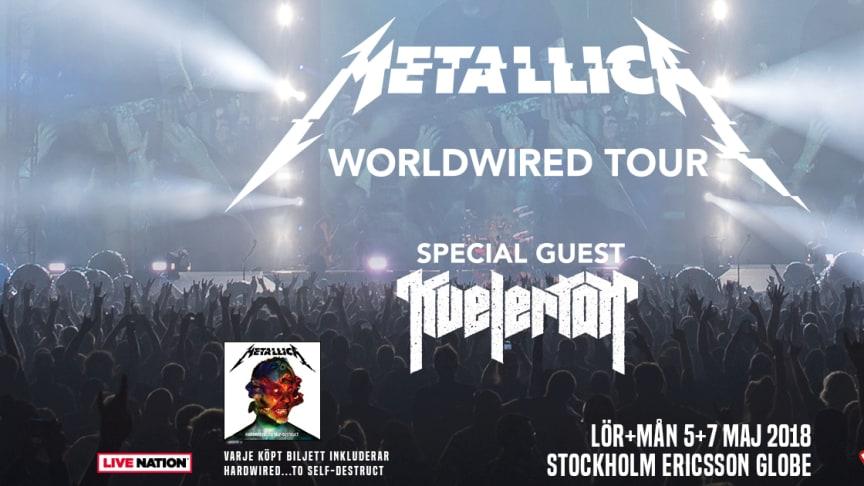 "Metallicas ""Worldwired Tour"" kommer till Sverige i maj 2018"