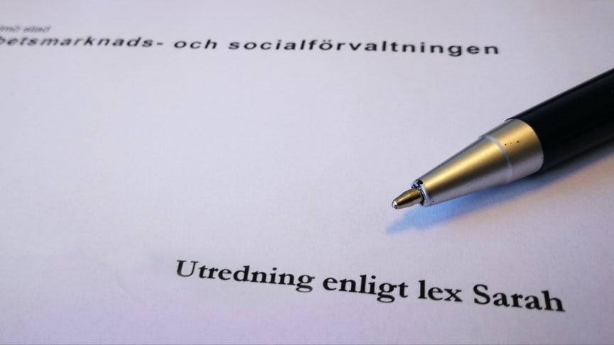 Lex Sarah: Missade delge delavslagsbeslut