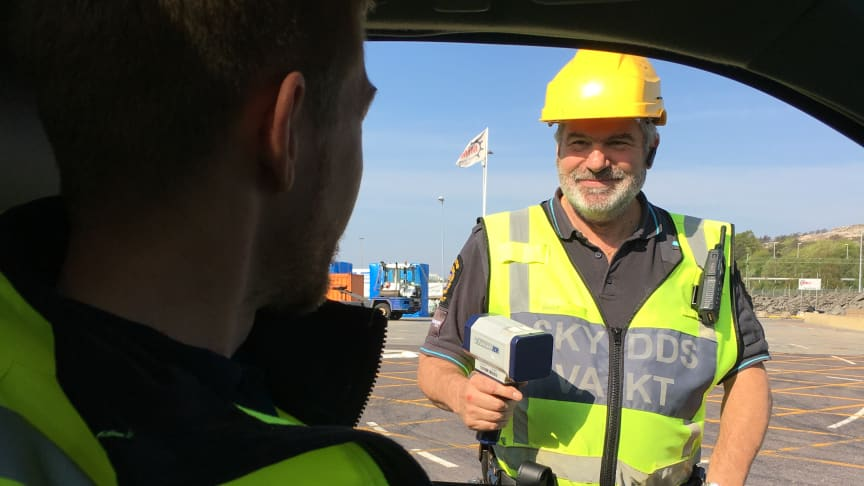 Vi genomförde  under dagen hastighetskontroller på terminalen.
