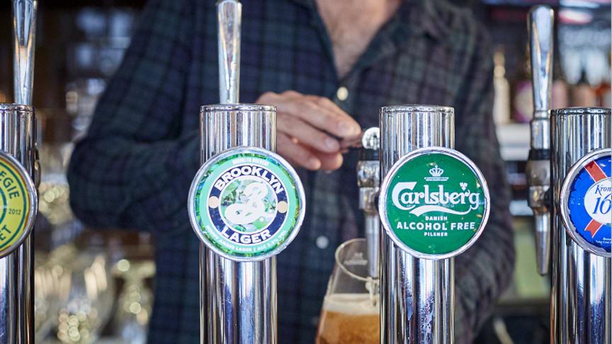 Carlsberg alkoholfri öl på fat