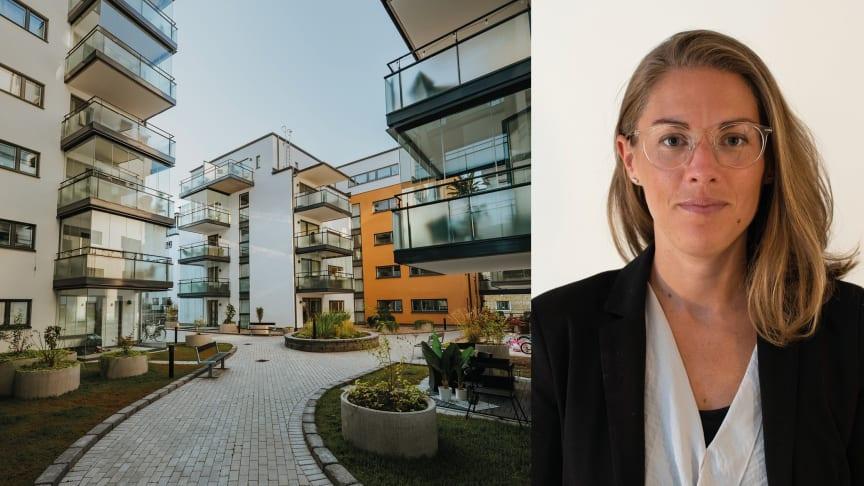Cecilia Jutell, analytiker på HSB Stockholm presenterar Stockholms bostadsrättsbarometer 2020