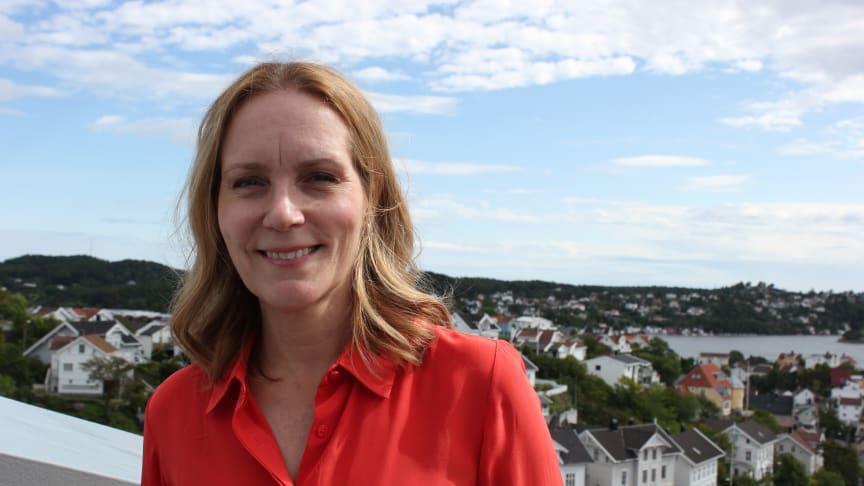 Riksantikvar Hanna Geiran fotografert under Arendalsuka 2021. Foto: Øyvind Aase Fluge, Riksantikvaren