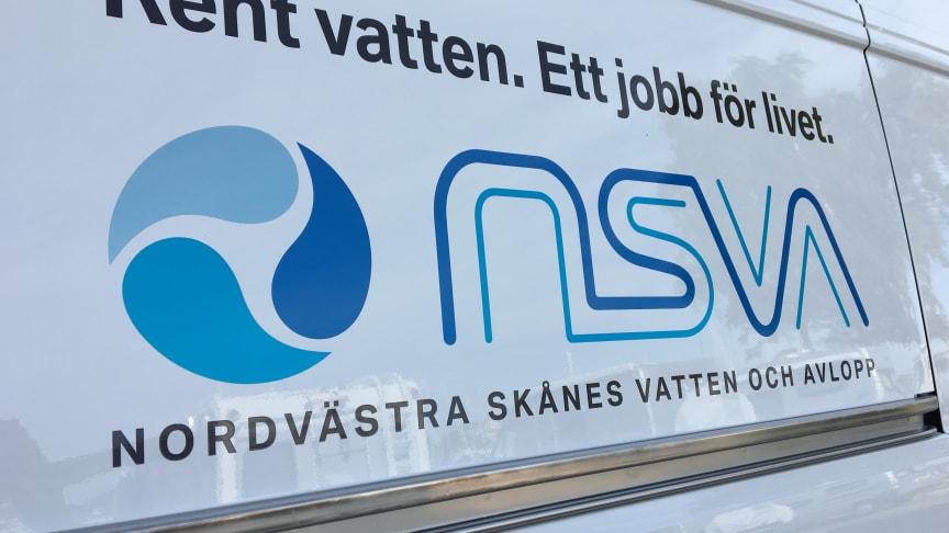 Från den 1 januari kommer fordon från NSVA att synas i Perstorps kommun när personal utför vatten- och avloppsarbete.