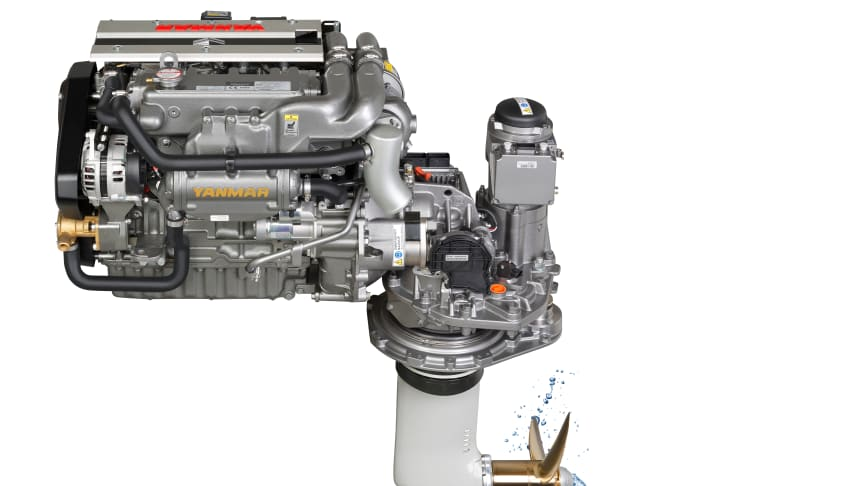 Yanmar United States Sailboat Show Yanmar Introduces New High Performance 4jh80 Spp The World S Only Steerable Propulsion System For Sail Yachts Saltwater Stone