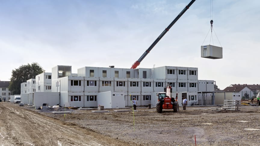 Heute noch eine Baustelle, doch in weniger als vier Wochen steht neuer Wohnraum für 340 Studierende bereit.