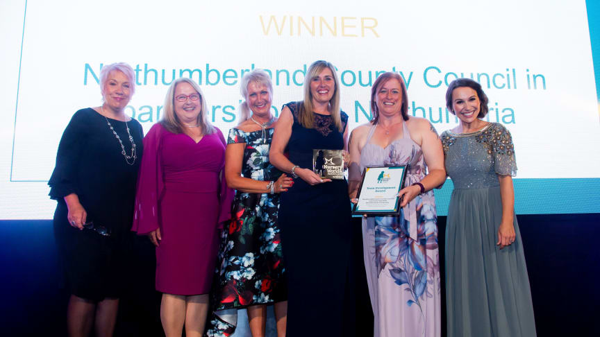 Kay Heslop, second left, with other members of the Northumberland Early Years Professional Network