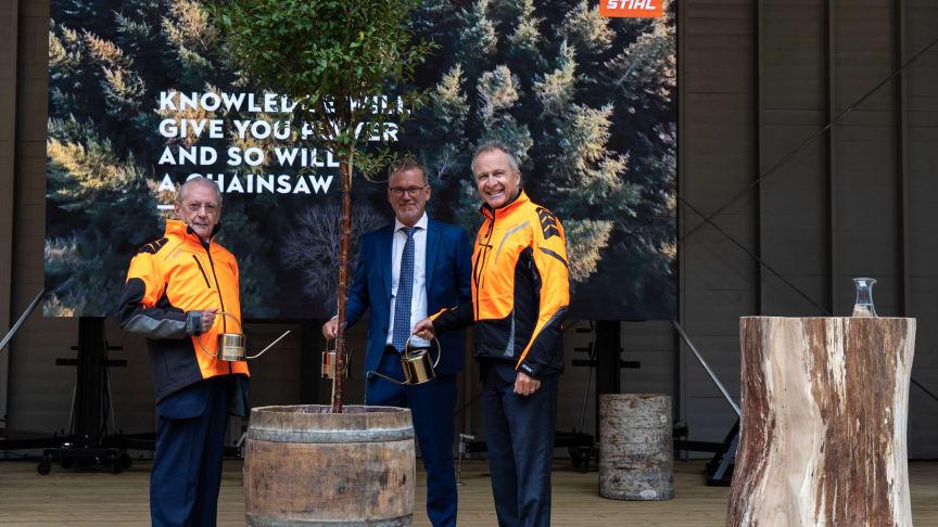 Fra venstre: Hans Peter Stihl, Kjell Svensson og Norbert Pick.