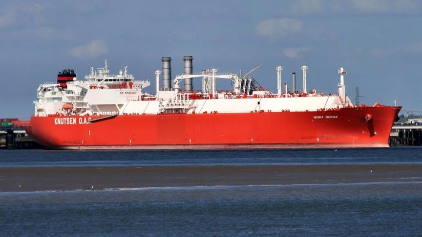 Gasstankskipet Iberica Knutsen (Foto: Knutsen AOS Shipping)
