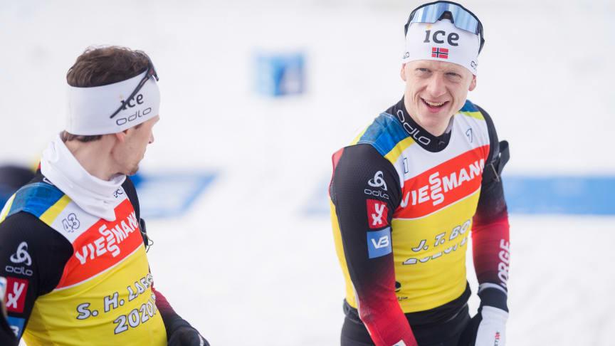 KLARE FOR OL-SESONG: De to sterkeste rivalene på elitelaget for herrer forbereder seg på ny sesong. Foto: Christian Haukeli