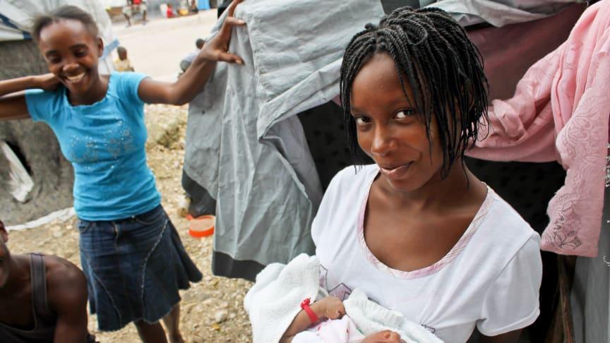 Framtiden för Haitis barn hotas av brist på pengar