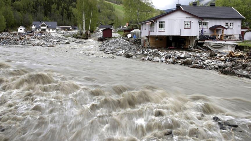 Flooding and damages in Kvam, Gudbrandsdalen in 2013