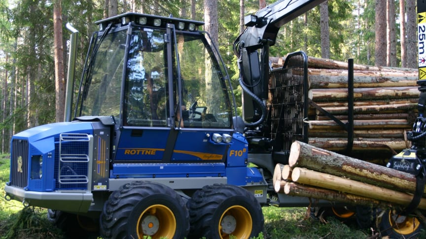 Effektivare skogsmaskiner krymper marknaden