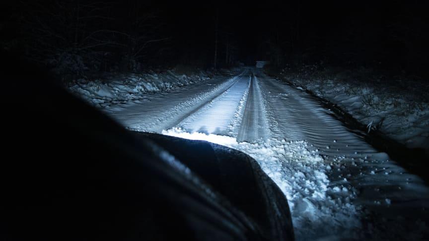 Bra belysning ger säkrare färd på vägen.