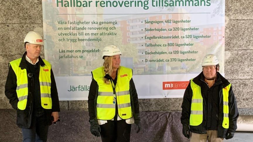 Johan Lindberg, Jennie Sahlsten och Björn Lindforss