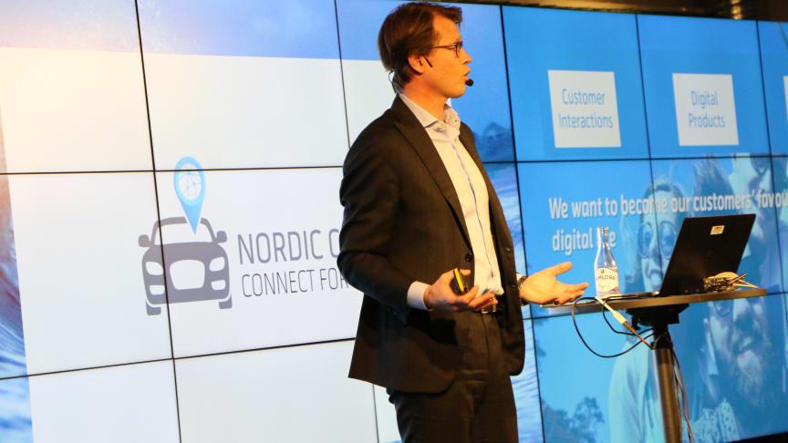Telenor Connexions vd Mats Lundquist pratade om digitala trender inom bilindustrin