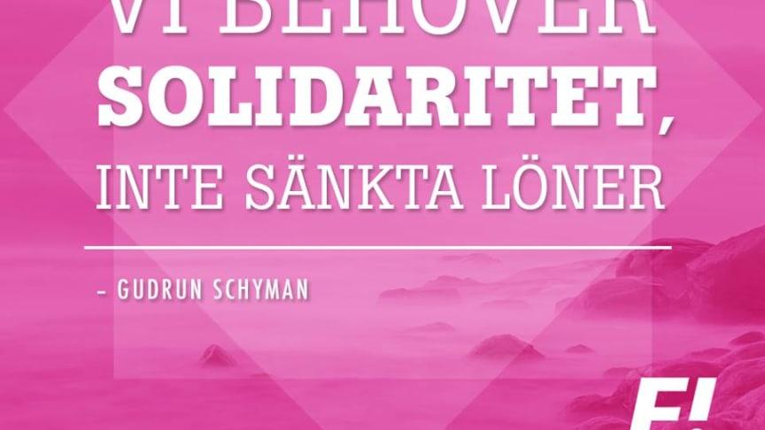 Vi behöver solidaritet, inte sänkta löner