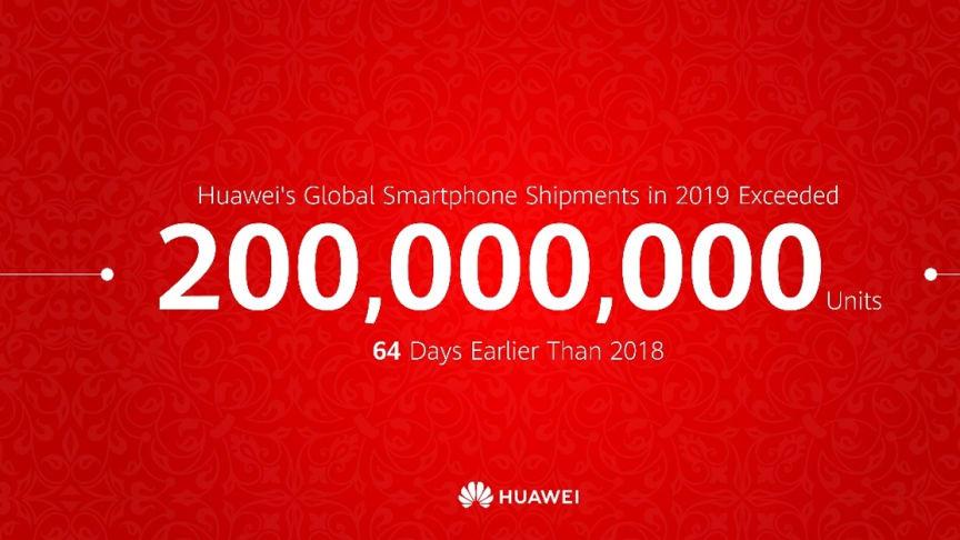 Huawei har sålt 200 miljoner mobiltelefoner på rekordtid
