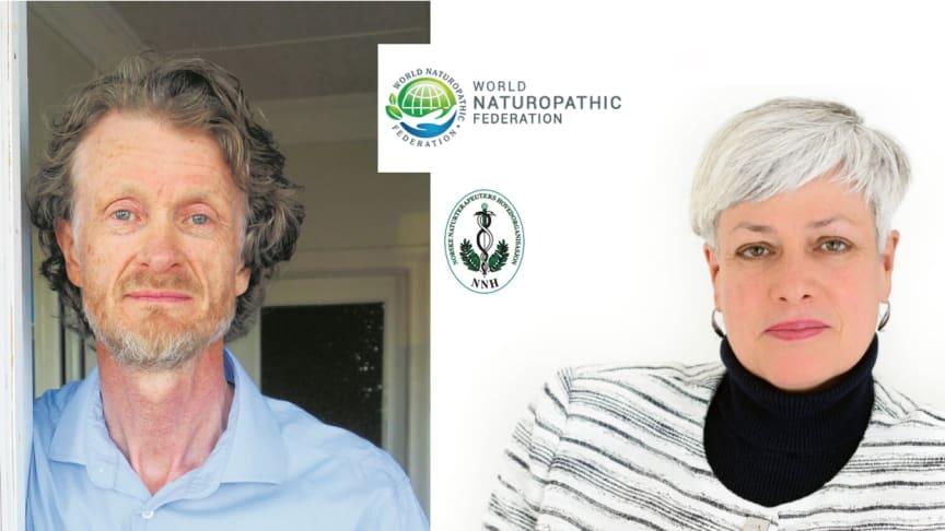 NNHs styreleiar John Petter Lindeland og dr. Iva Lloyd, styreleiar i WNF