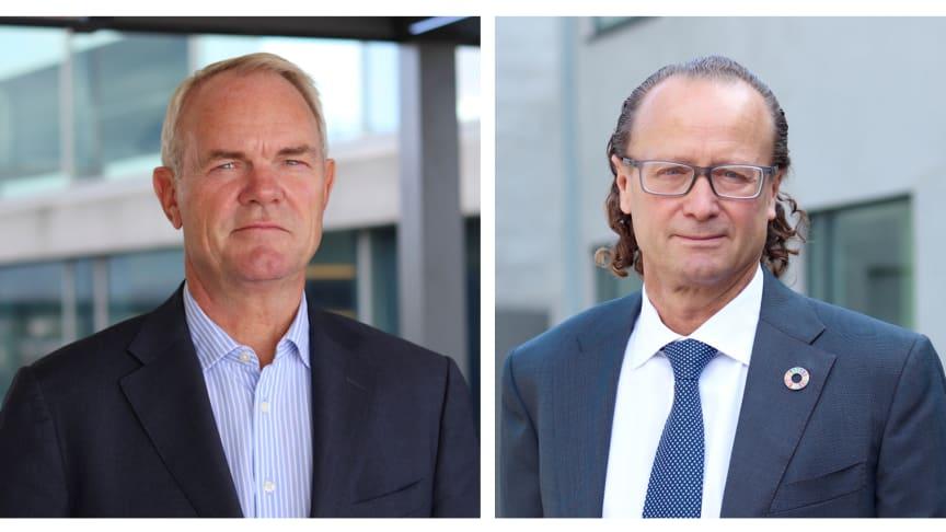 Lanserer nytt eiendomsfond: Truls Nergaard og Jan Erik Saugestad.