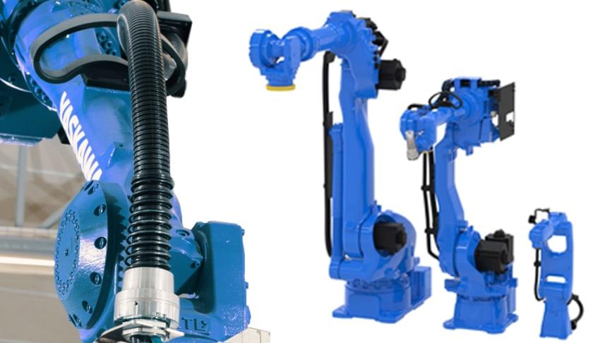Prisvärda påklädnadspaket för luft- och signalkablar för GP-robotar från YASKAWA.
