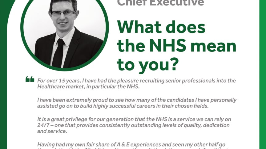 WHAT THE NHS MEANS TO FINEGREEN - NEIL FINEBERG