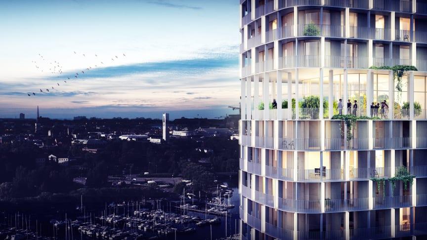 Riksbyggen vill ge Västerås ett nytt landmärke med 150 nya bostäder