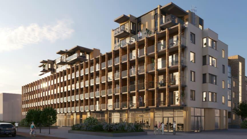 Brf Murgrönan i Kungälv är Riksbyggens projekt nummer 200 som certifieras enligt Miljöbyggnad.