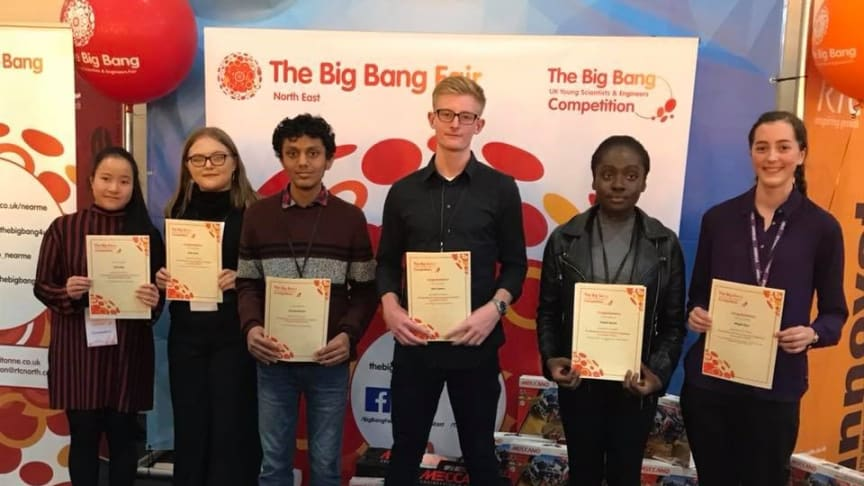 Karthik Mysore (third from left) with a group of Big Bang North East award entrants