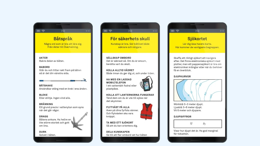 Sjöräddningssällskapet möter många som är nya på sjön. Nu finns det en app med goda råd inför båtturen.