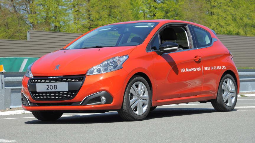 Nya Peugeot 208 sätter bränslerekord med 2,0 l/100 km
