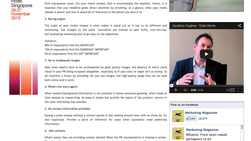 Editorial Coverage: Mynewsdesk x Precious Comms Brands and Media Engagement Survey 2013