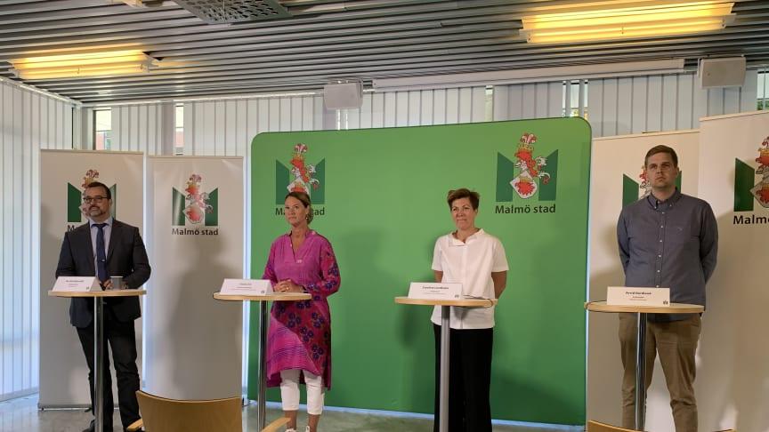På dagens pressträff deltog Per-Erik Ebbeståhl, Gisela Öst, Caroline Lundholm samt Arvid Nordland