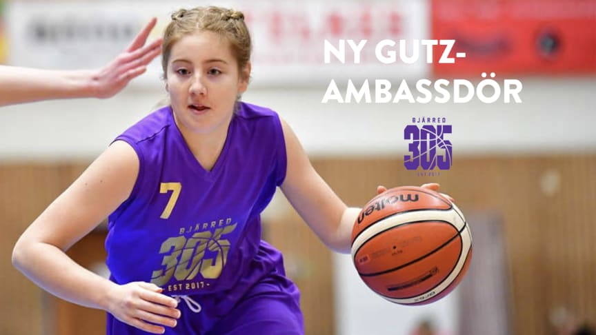 Gutz-ambassadör Alice Schubert, basketklubben Bjärred.