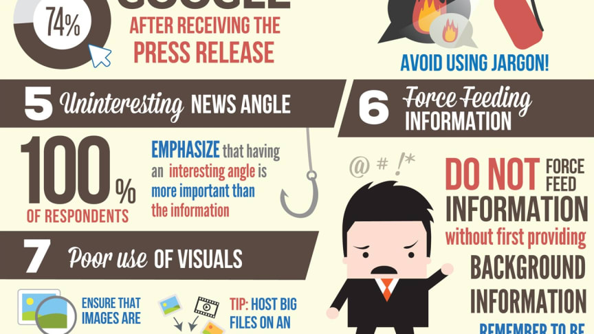7 Ways You Can Frustrate Journalists (What NOT to do) Infographic
