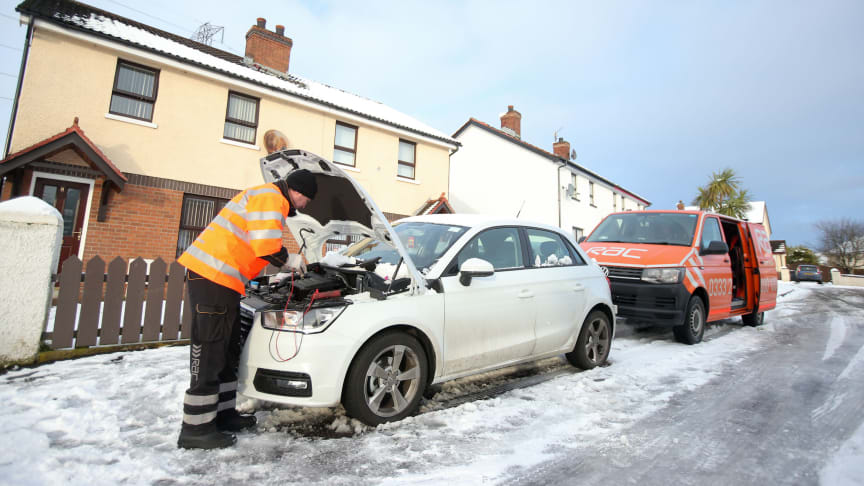 RAC patrols dealing with unprecedented levels of callouts as the UK remains in the grip of the Siberian blasts