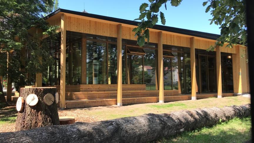 Klimahuset skal være en storstue for klimaformidling. Det gjenspeiles i byggets egenskaper. Foto: Marit Skaatan/UiO