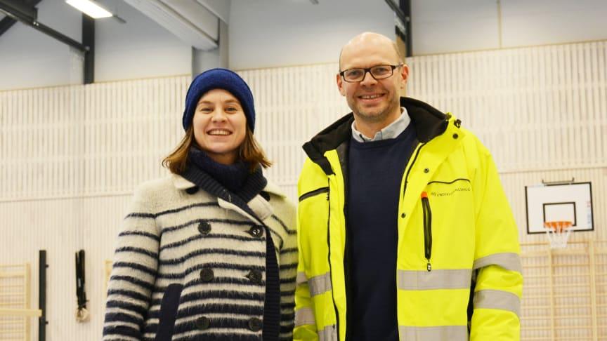 Byråd Rina Mariann Hansen og prosjektleder Anders Løkke.