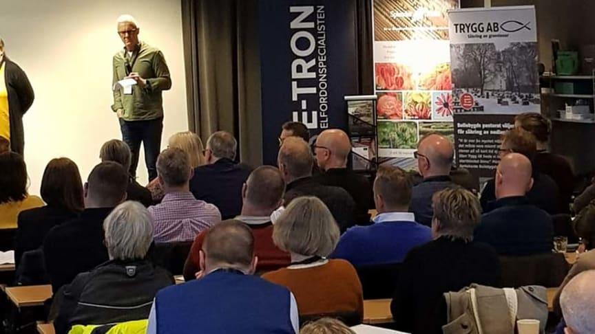 E-TRON samarbetar med Föreningen Sveriges Kyrkogårdschefer